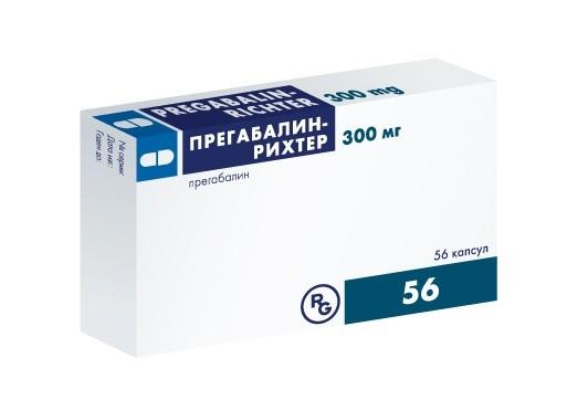 Препарат в коробке Прегабалин