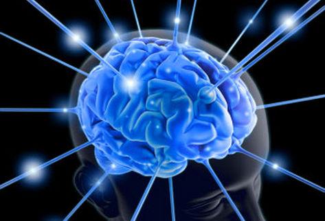 Мозг с лучами