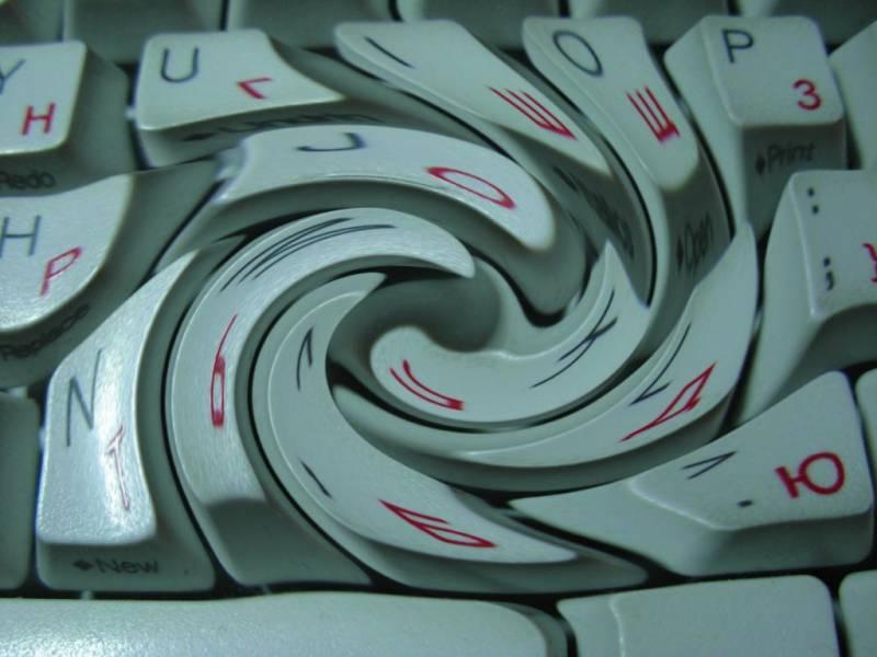 Размытая клавиатура